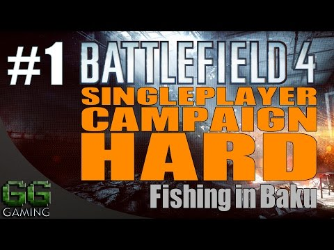 Battlefield 4 Gameplay On Hard. Campaign Mission 1 - Baku. Walkthrough Part 1