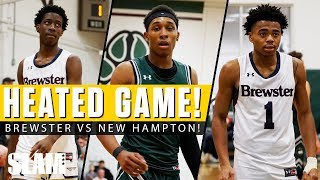 Jalen Lecque & Brewster HEATED BATTLE vs New Hampton! 🤬😱