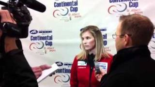 2011 Continental Cup of Curling: Jennifer Jones Media Scrum