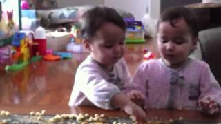 Cutest Twins Ever!!! Identical Twin Girls Feeding Each Other