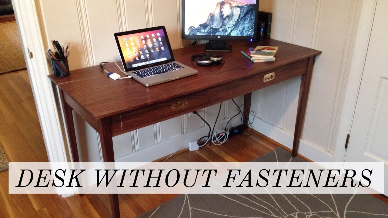 Shaker And Campaign Inspired Walnut Desk With No S Or Nails Shampaign Woodworking