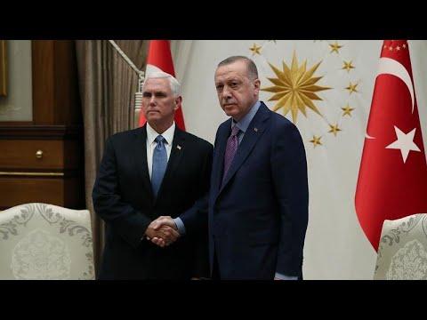 شاهد: بنس يلتقي أردوغان في محاولة أمريكية لوقف العملية العسكرية التركية في سوريا …  - نشر قبل 19 دقيقة