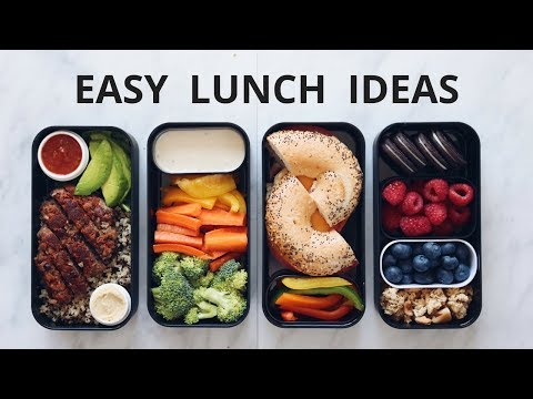 EASY VEGAN SCHOOL LUNCH IDEAS