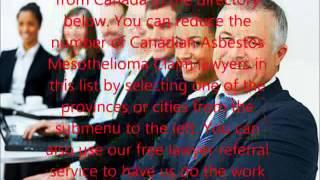 Canadian Asbestos Mesothelioma Claim Lawyers
