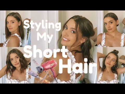 HOW I STYLE MY SHORT HAIR | Simple & Quick