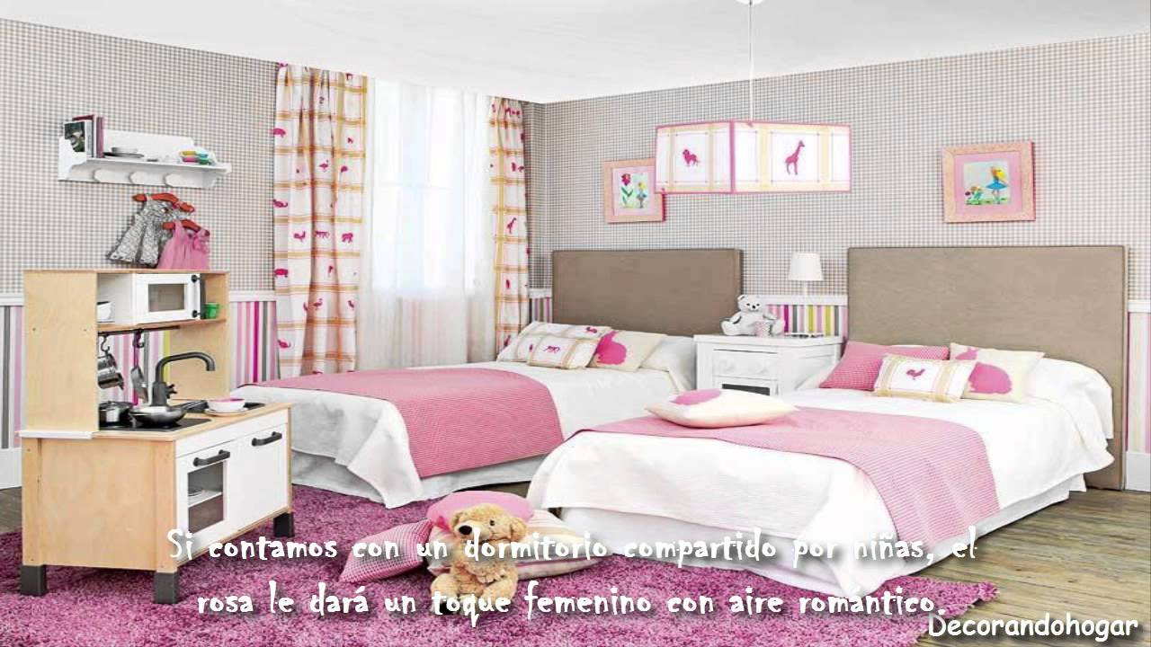 Decorar dormitorio de ni a de color rosado decoraci n for Decoracion de cuartos para 2 ninas