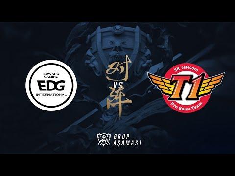 Edward Gaming ( EDG ) vs SK telecom T1 ( SKT ) Maç Özeti   Worlds 2017 Grup Aşaması