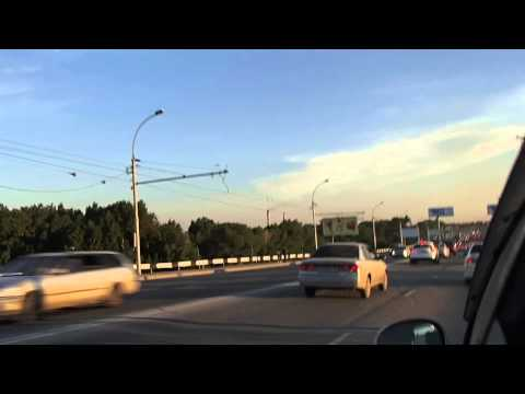 Road in Novosibirsk Russia