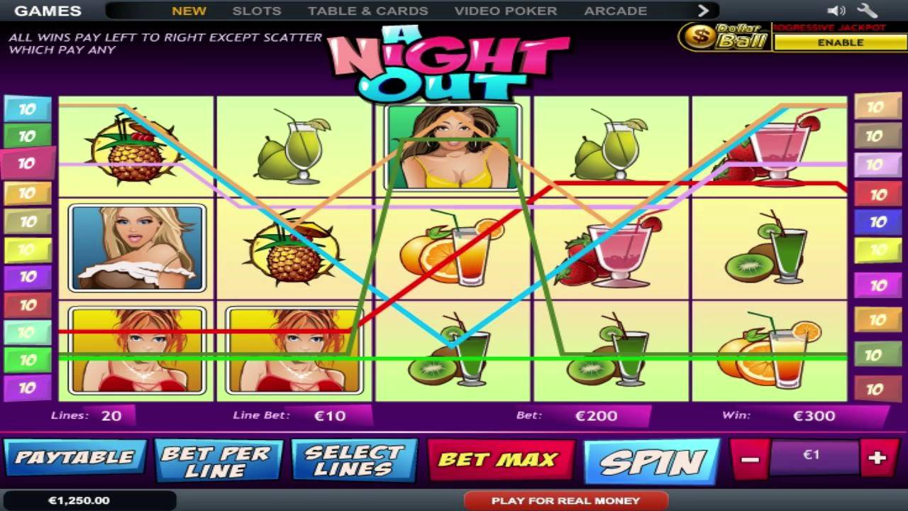 a night out slot game free