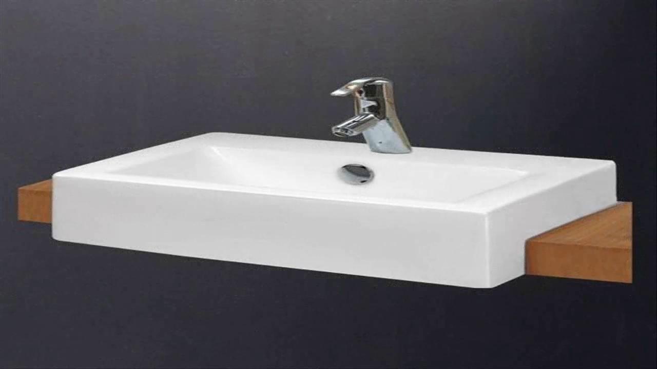 small semi recessed bathroom sink
