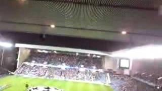 Rangers v Sevilla: DERRYS WALLS gets blasted out!!