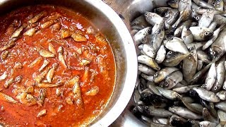 How to make Small Fish Curry - South INDIAN special  Fish Curry recipe -Sardine Fish gravy