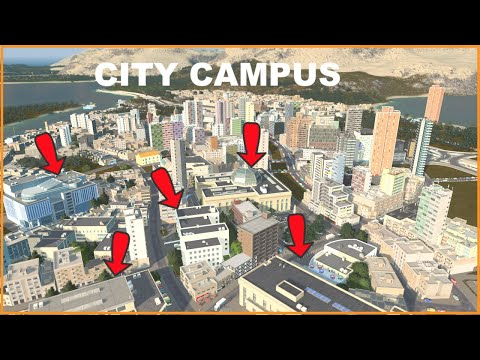 The City University Campus   You can hardly see it   Cities Skylines  