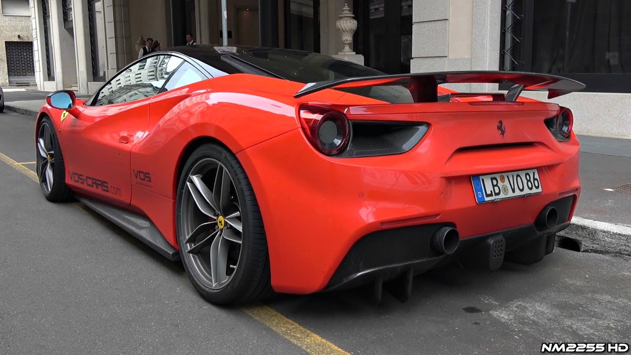 900hp Ferrari 488 Gtb By Vos Performance With Akrapovic Exhaust Start Up Revs Sound Youtube