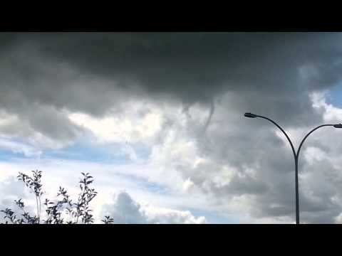 Funnel cloud Airdrie Alberta July 26, 2015