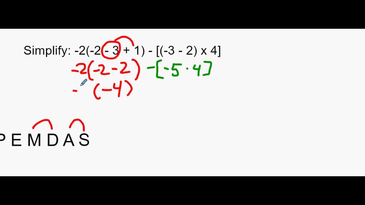 Algebra 12 Lesson 91 Order Of Operations With Symbols Of Inclusion