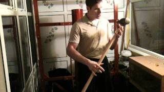 Grip Strength Training. Iron grip, sledge hammer.