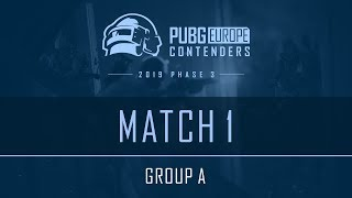 Match 1 • Group А • PEL Contenders • Phase 3