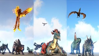FFA TEST: Scorched Earth VS Aberration VS TheIsland - FREE FOR ALL || ARK: Survival Evolved
