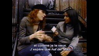 ''Melissa Auf Der Maur'' - Rare interview @ Musique Plus - VJ Rebecca Makonnen - 2004