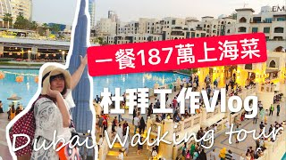 米米瘋 杜拜Work Vlog#6 杜拜購物中心 walking tour 學杜拜王子吃187萬臺幣上海菜