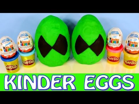 Play Doh Ben 10 Omniverse Giant Kinder Surprise Eggs Play-Doh Ben Ten Cartoon Toys
