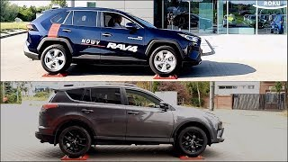 New 2019 Toyota RAV4 AWD vs 2018 Toyota RAV4 AWD - 4x4 test on rollers