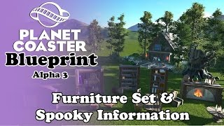 A | Shares | Planet Coaster - Blueprint | Furniture and Spooky info hut