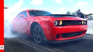 Dodge Challenger, Charger, Hellcat, & Demon Drag Racing