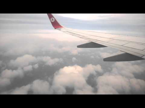 Turkish Airlines TK1036 Landing at Istanbul (TAV) and Taxis to the Gate