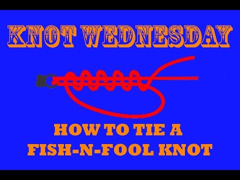 How To Tie The FISH-N-FOOL KNOT - Fishing Knot