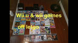 VIDEO GAMES PICK UP OFF LETGO WII U LOT AND WII GAMES
