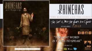 "Phinehas - ""The Blessing and the Curse"""
