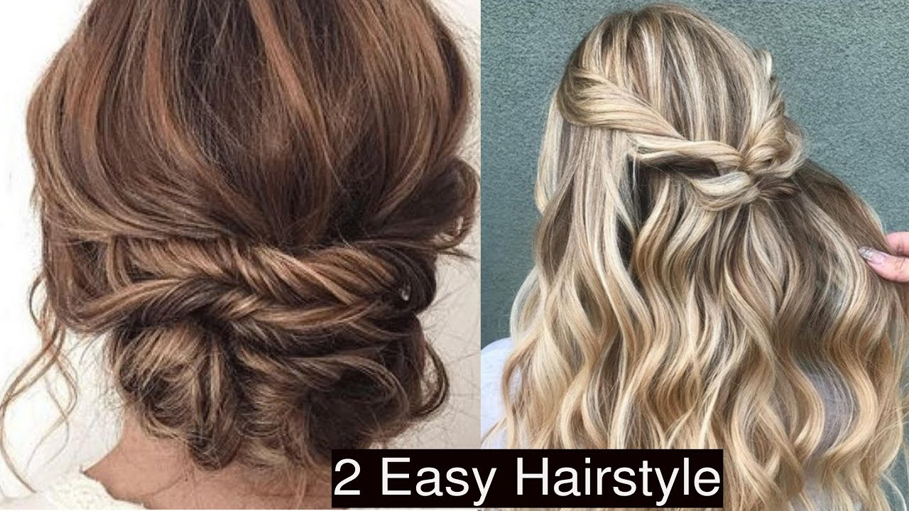 2 EASIEST PARTY UPDO AND HALF UP HALF DOWN HAIRSTYLE | LOW ...