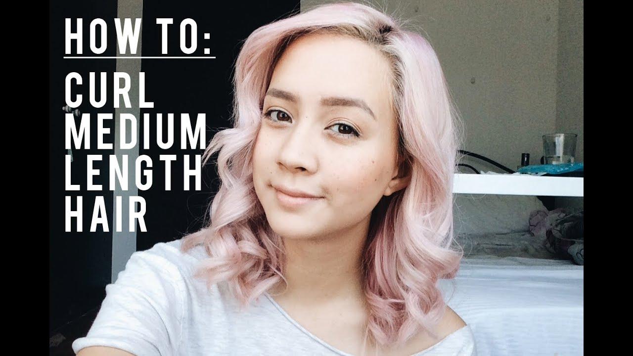 How To Curl Medium Length Hair Hair Straightener Youtube