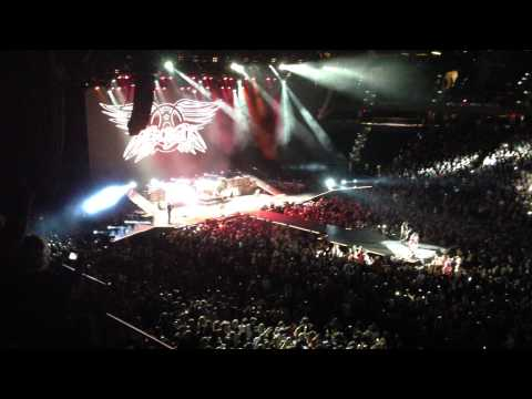 Aerosmith opening the show at the Tampa Bay Times Forum 12-11-12