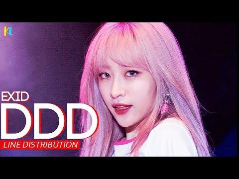 EXID- DDD (덜덜덜) Line Distribution