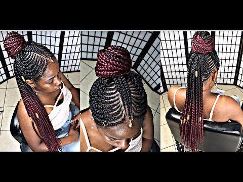 #260. tribal mohawk braids