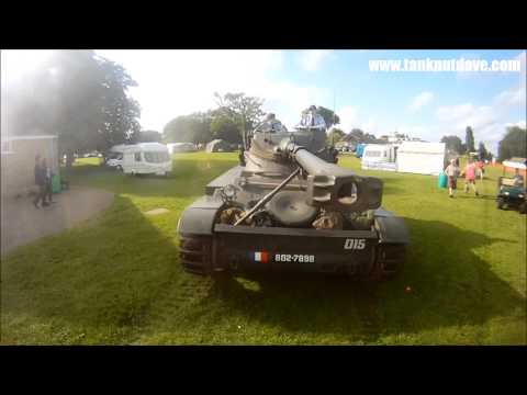 Parking a French AMX-13 Tank