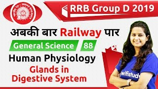 12:00 PM - RRB Group D 2019 | GS by Shipra Ma'am | Human Physiology (Glands in Digestive System)