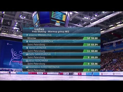 2017 Russian Nationals - Ladies Free Skate Group 2 ESPN