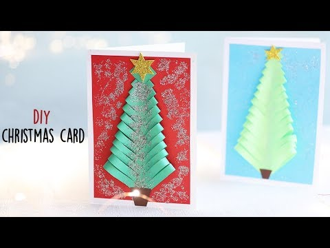 How To Make a Christmas Card | Christmas Tree Card | Cardmaking
