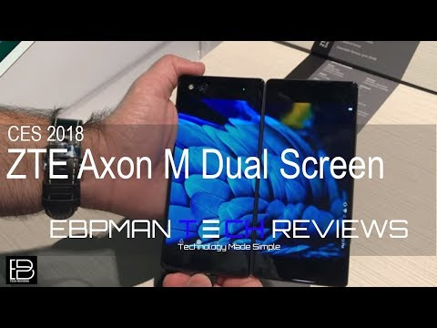 CES 2018 Day 1: Are you ready for two screens foldable phones are here meet the ZTE Axon M