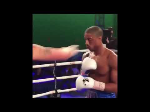 Dickerman - Michael B Jordan Gets KO'd On The Set Of Creed II