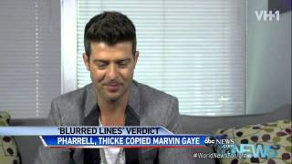 'Blurred Lines' case: Robin Thicke and Pharrell Williams Ordered to Pay $7.3 Million to Gaye Family