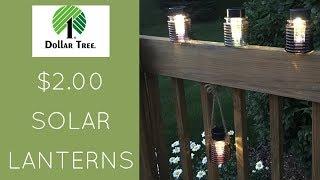Dollar Tree DIY - Solar Light Lantern (& Mason Jar Lantern) -2019