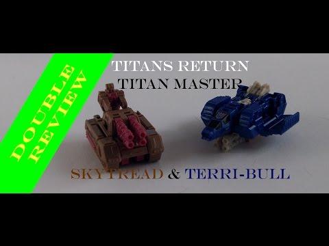 (french review) TRANSFORMERS TITANS RETURN Terri-bull & Skytread