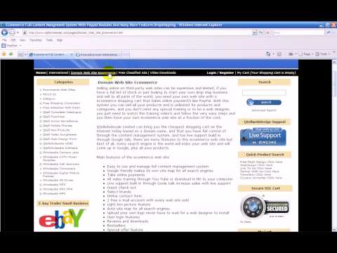 Drop Ship Web Sites For Sale $120 Wholesale Electronics Dropshipping Ecommerce Web Site