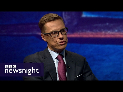 Alexander Stubb: Europe should not punish UK for Brexit - BBC Newsnight