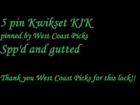 (98) 5 pin Kwikset KIK (pinned by West Coast Picks) Spp'd and gutted